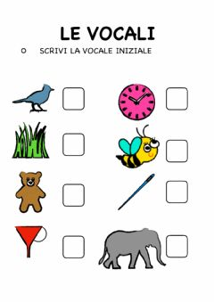 Interactive worksheet Gioca con le vocali
