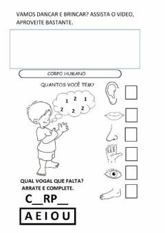 Interactive worksheet Corpo e movimento