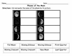 Interactive worksheet Phases of the Moon