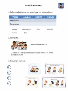 Interactive worksheet La Voz