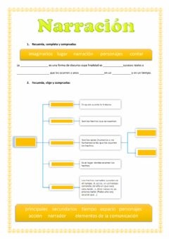 Interactive worksheet Narración. Tipos de narradores