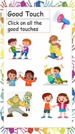 Interactive worksheet Good - Bad Touch