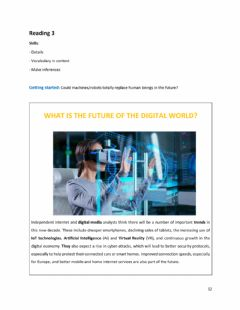 Interactive worksheet The future of the digital world