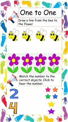 Interactive worksheet One to One Correspondence
