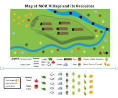 Interactive worksheet Map Of MOA Village and Its Resources