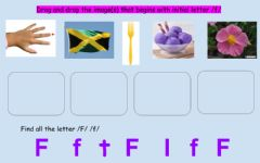 Interactive worksheet Letter Ff drag and drop