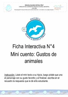 Ficha interactiva Mini cuento