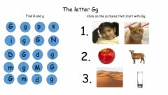 Interactive worksheet The Letter Gg