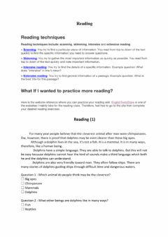 Ficha interactiva Reading Skill : Skimming and Scanning