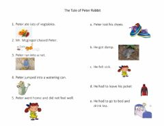 Interactive worksheet The Tale of Peter Rabbit