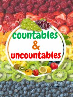 Interactive worksheet Countables & uncountable