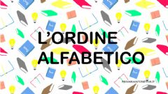 Interactive worksheet L'ordine alfabetico
