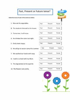 Interactive worksheet Past, Present and Future tense