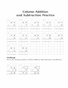 Interactive worksheet Addition and subtraction problems