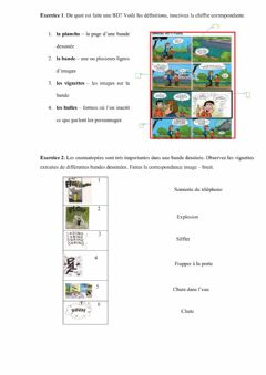 Interactive worksheet La BD