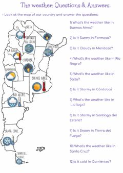 Ficha interactiva The weather Q&A