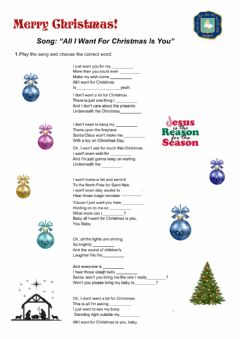 Interactive worksheet Christmas song-Westhumbia