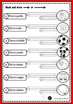 Interactive worksheet 2.1 words draw arrows