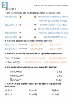 Interactive worksheet Repaso números