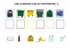 Interactive worksheet Reciclamos la basura