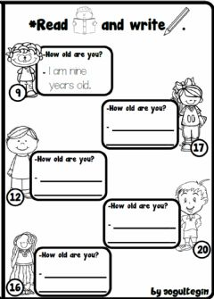 Interactive worksheet 3.1. Greetings - How old are you?