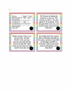 Interactive worksheet Multi-Step Addition and Subtraction Word Problems