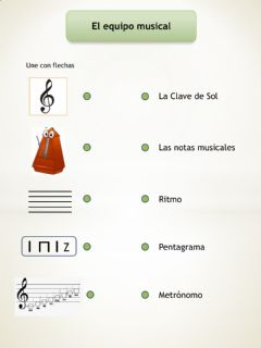 Interactive worksheet El equipo musical