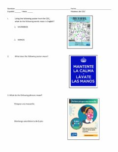 Interactive worksheet Pósteres del CDC Demo of Learning