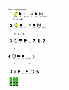 Interactive worksheet Number Sense Assessment: Red