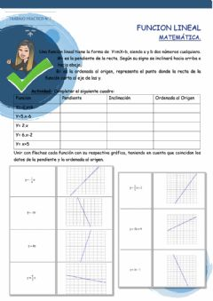 Interactive worksheet Funcion lineal