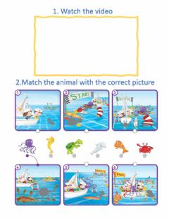 Interactive worksheet I Want to be a Sailor