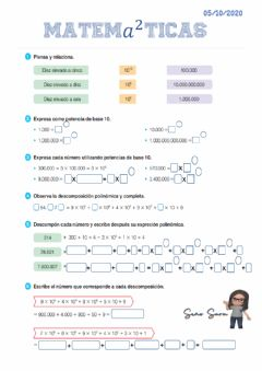 Interactive worksheet potencias base 10