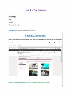 Interactive worksheet A typical web page
