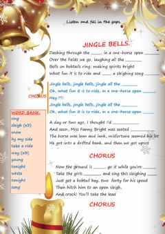 Interactive worksheet Jingle bells