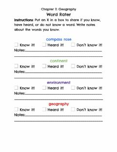 Interactive worksheet Geography Vocabulary