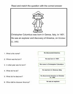 Interactive worksheet Christopher Colombus