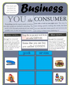 Interactive worksheet Business Goods and Services