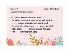 Interactive worksheet About school