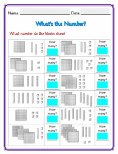 Interactive worksheet Base Ten Link