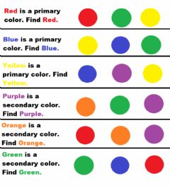 Interactive worksheet Primary and Secondary Color Select