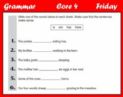 Interactive worksheet Grammar - Subject-Verb Agreement C