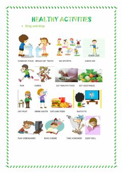 Interactive worksheet Healthy Activities