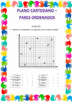 Interactive worksheet Guia plano cartesiano-pares ordenados