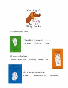 Interactive worksheet My Dog Is As Smelly As Dirty Socks