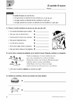 Interactive worksheet La g