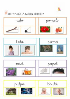 Interactive worksheet Lectura p l m