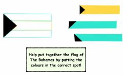 Interactive worksheet The flag of The Bahamas Flag