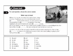 Interactive worksheet KEY FOR SCHOOLS: Reading and use of english part 4 and 5