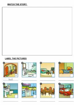 Interactive worksheet Where are they?