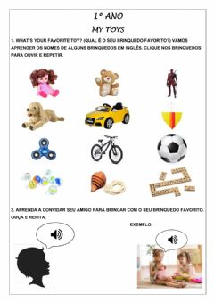 Interactive worksheet 1º ano - My toys
